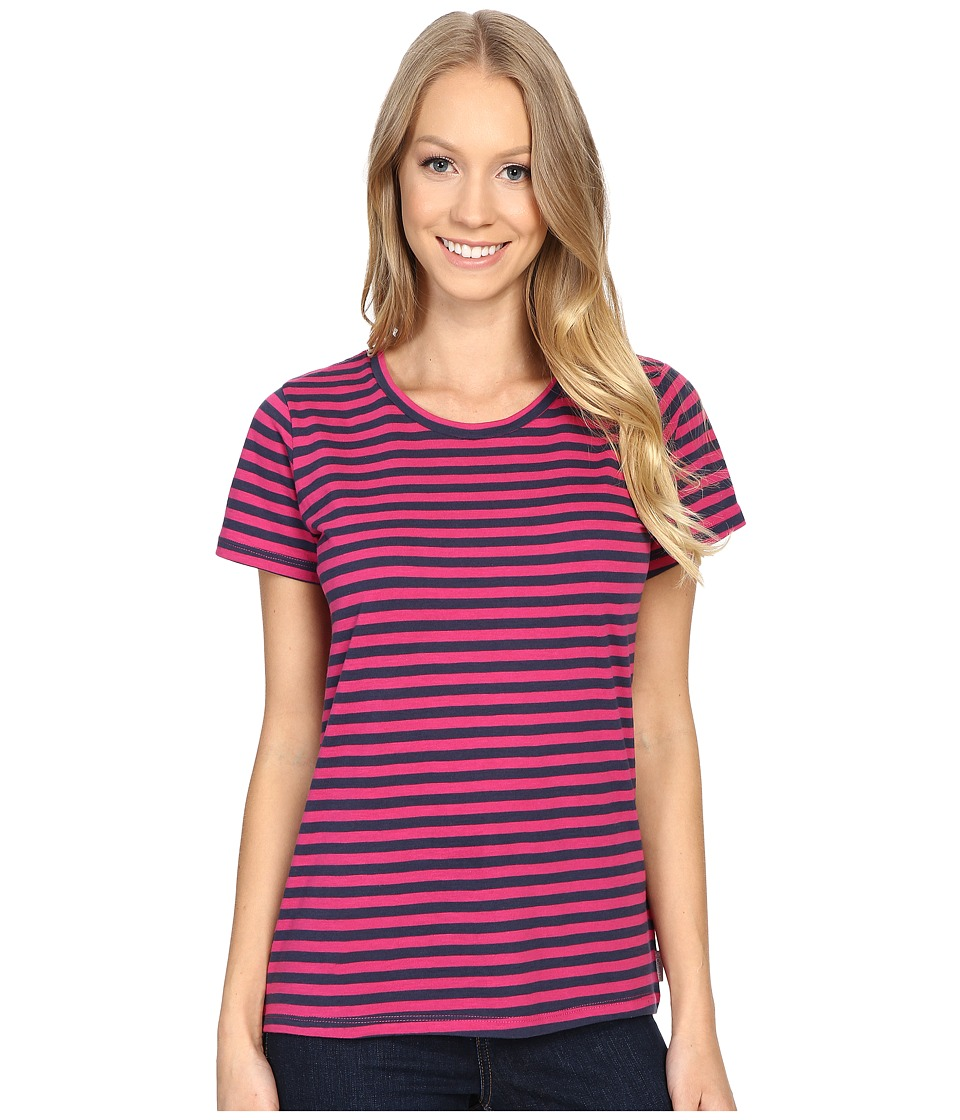 Columbia - Everyday Kenzie Crew Neck Tee (Haute Pink Stripe) Women