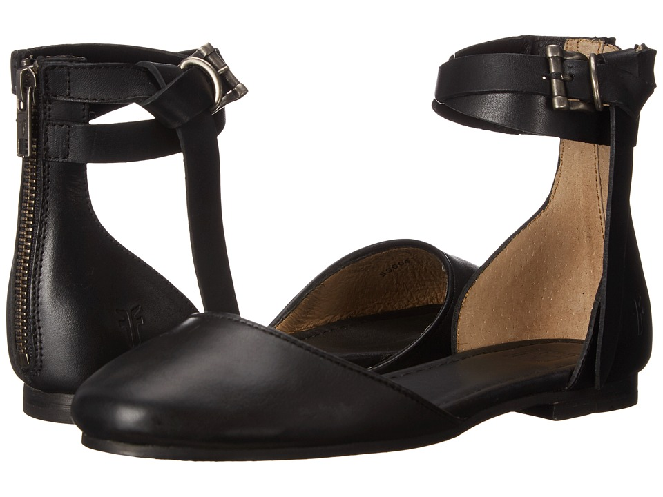 Frye Carson Knotted Ballet (Black Polished Stonewash) Women