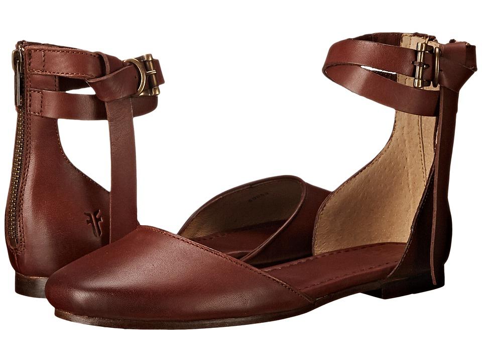 Frye - Carson Knotted Ballet (Redwood Polished Stonewash) Women's Flat Shoes