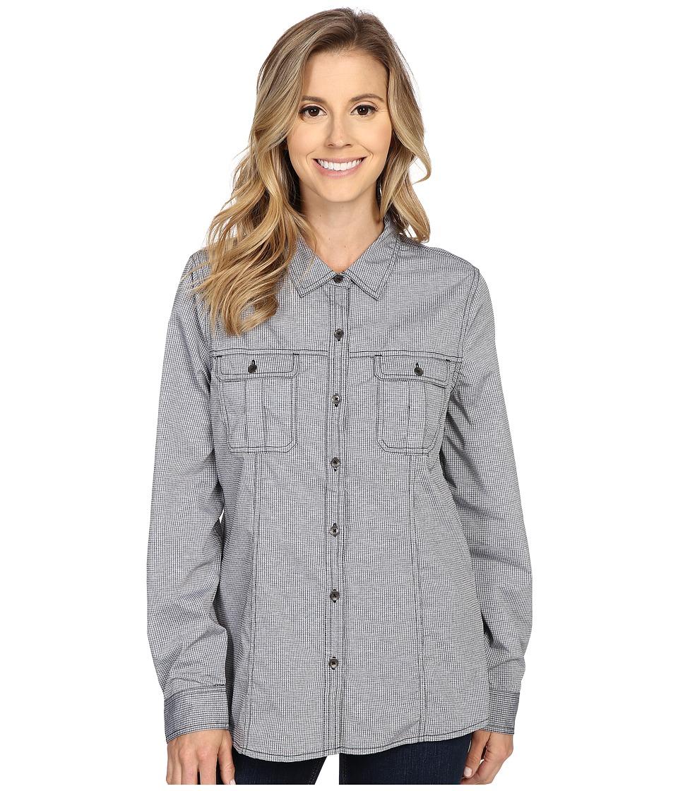 Royal Robbins - Diablo Camp Shirt (Jet Black) Women's Long Sleeve Button Up