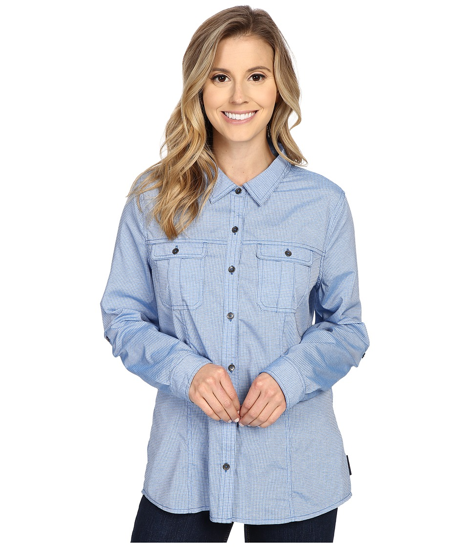 Royal Robbins - Diablo Camp Shirt (Light Lapis) Women's Long Sleeve Button Up