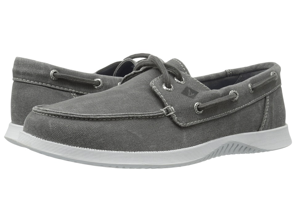 Sperry - Defender 2-Eye Canvas (Grey) Men's Shoes