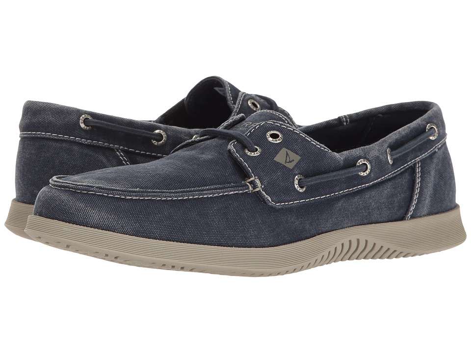 Sperry - Defender 2-Eye Canvas (Navy) Men's Shoes