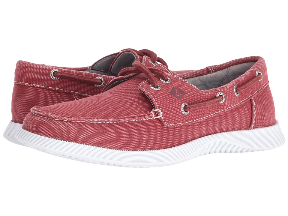 Sperry Top-Sider - Defender 2-Eye Canvas (Red) Men's Shoes