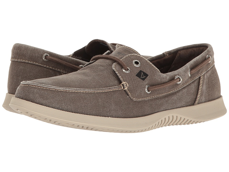 Sperry - Defender 2-Eye Canvas (Brown) Men's Shoes