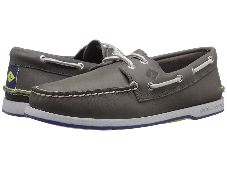 Sperry - Captain's A/O 2-Eye (Black/Red) Men's Lace up casual Shoes
