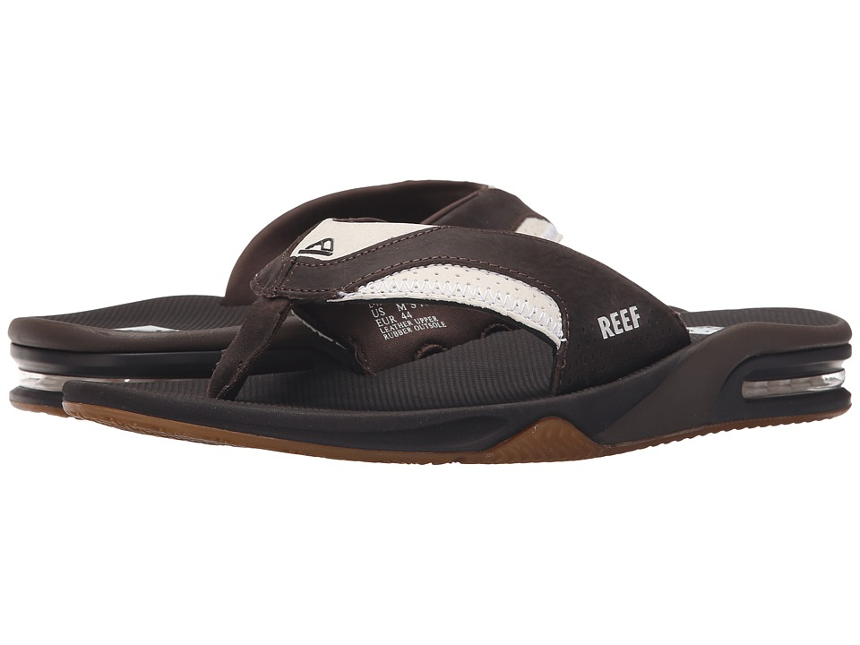 Reef - Fanning Leather (White/Brown 2) Men's Sandals