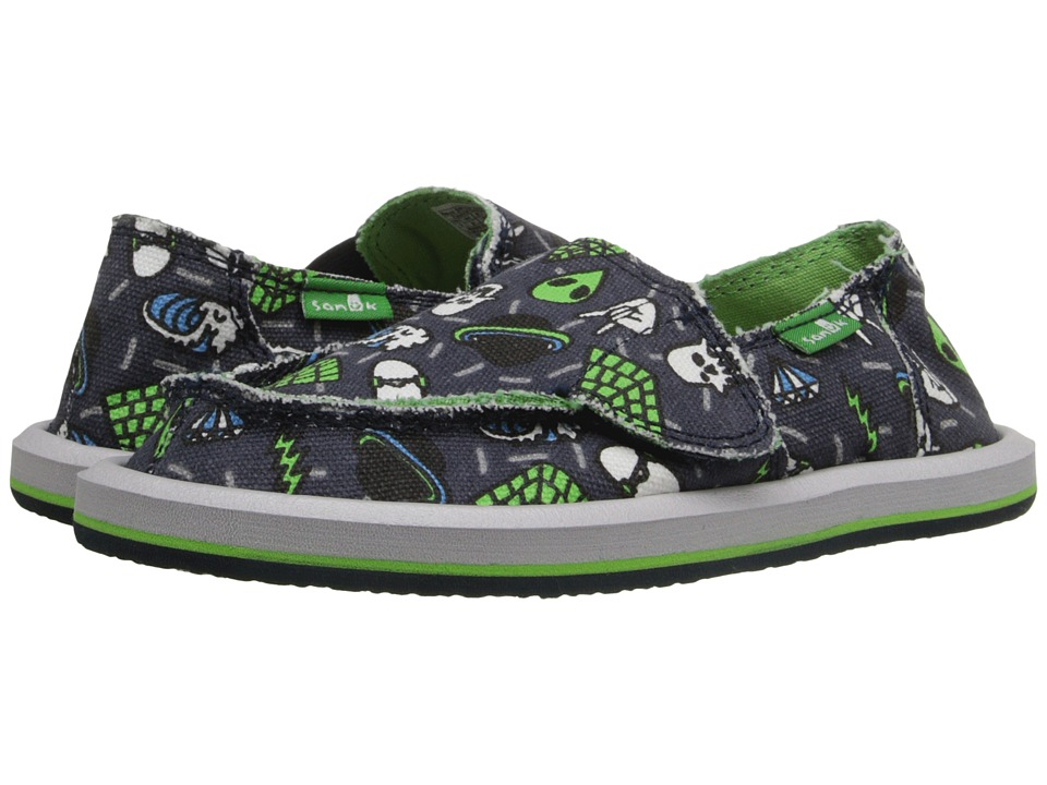 Sanuk Kids - Lil Donny Funk (Toddler/Little Kid) (Navy/Donny Icons) Boys Shoes