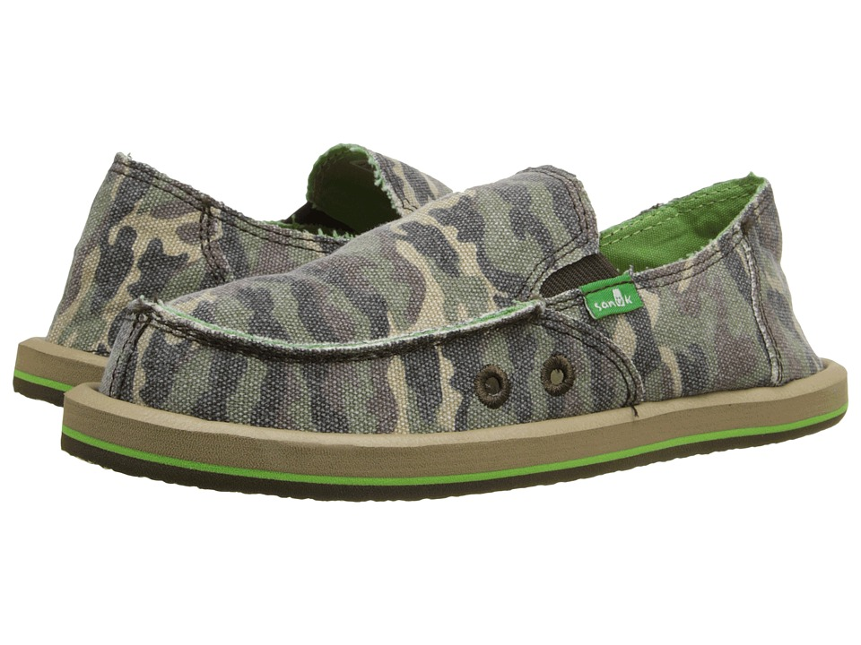 Sanuk Kids - Lil Donny Funk (Little Kid/Big Kid) (Camo) Boys Shoes