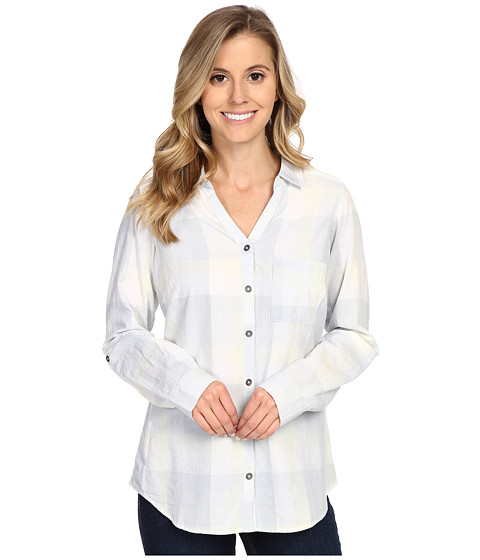 Columbia - Wild Haven Long Sleeve Shirt (Cirrus Grey Large Plaid) Women's Long Sleeve Button Up