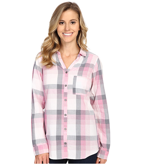 Columbia - Wild Haven Long Sleeve Shirt (Haute Pink Large Plaid) Women's Long Sleeve Button Up