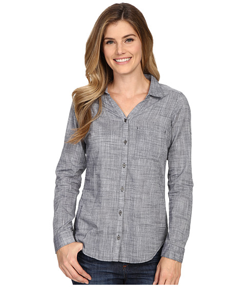Columbia - Wild Haven Long Sleeve Shirt (India Ink Cross Dye) Women's Long Sleeve Button Up