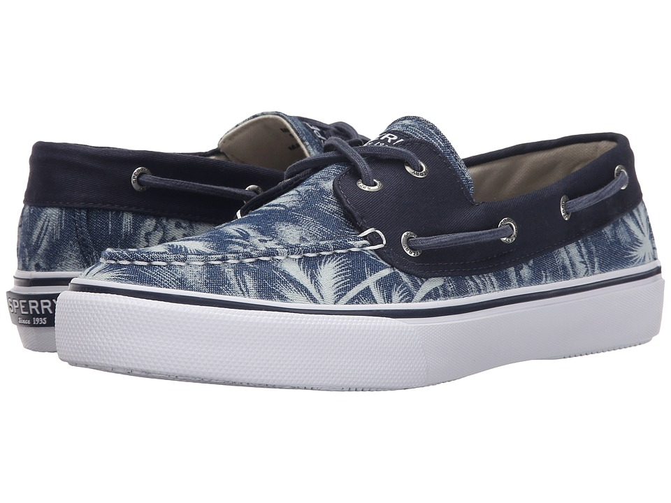 Sperry - Bahama 2-Eye Chambray (Navy Palm) Men's Lace up casual Shoes