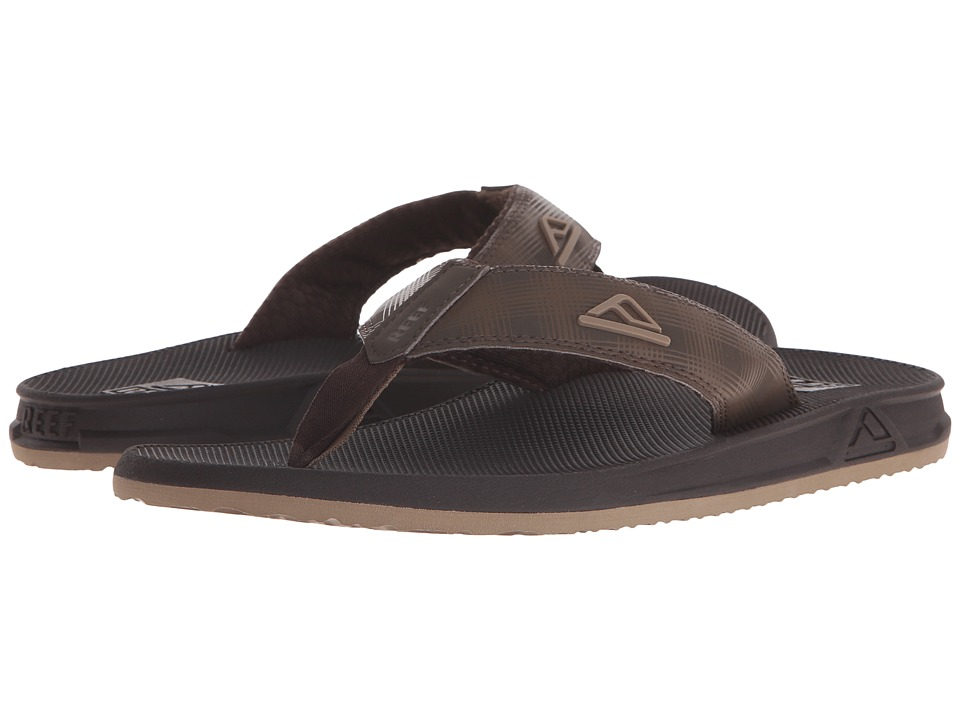 Reef - Phantom Prints (Brown Plaid) Men's Sandals