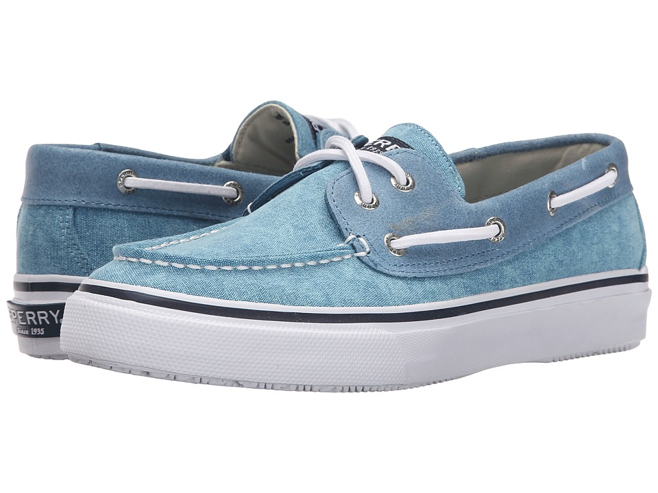 Sperry Top-Sider - Bahama 2-Eye White Cap (Blue) Men's Lace up casual Shoes