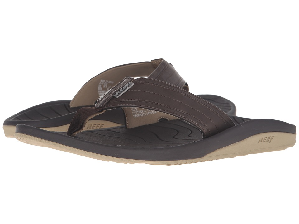 Reef - Swellular Cushion Lux (Brown/Gum) Men's Sandals