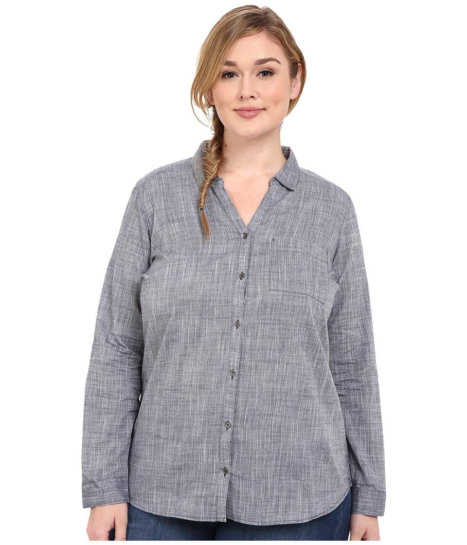 Columbia - Plus Size Wild Haven Long Sleeve Shirt (India Ink Cross Dye) Women