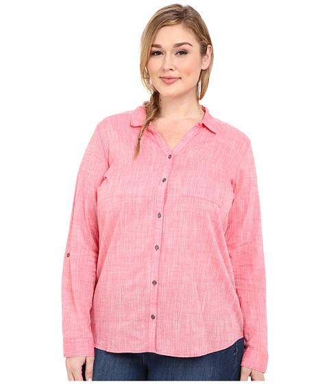 Columbia - Plus Size Wild Haven Long Sleeve Shirt (Bright Geranium Cross Dye) Women