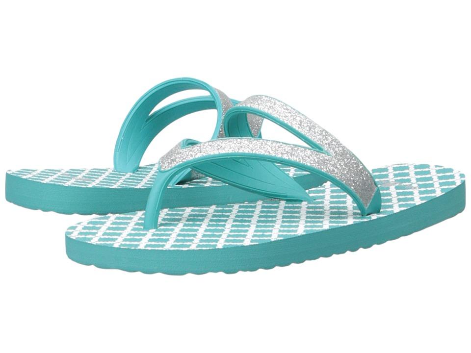 Sanuk Kids Lil Selene Crystal (Little Kid/Big Kid) (Silver/Turquoise) Girls Shoes