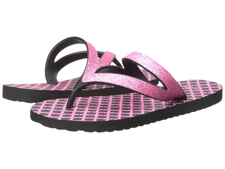 Sanuk Kids - Lil Selene Crystal (Little Kid/Big Kid) (Pink/Black) Girls Shoes