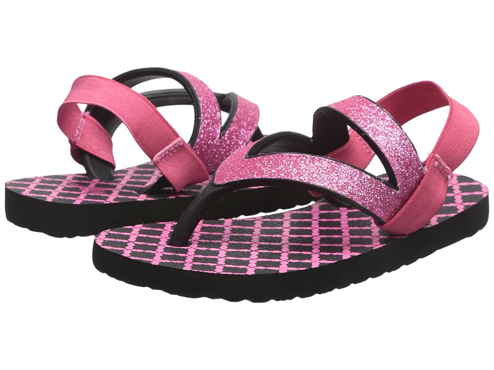Sanuk Kids - Lil Selene Crystal (Toddler/Little Kid) (Pink/Black) Girls Shoes