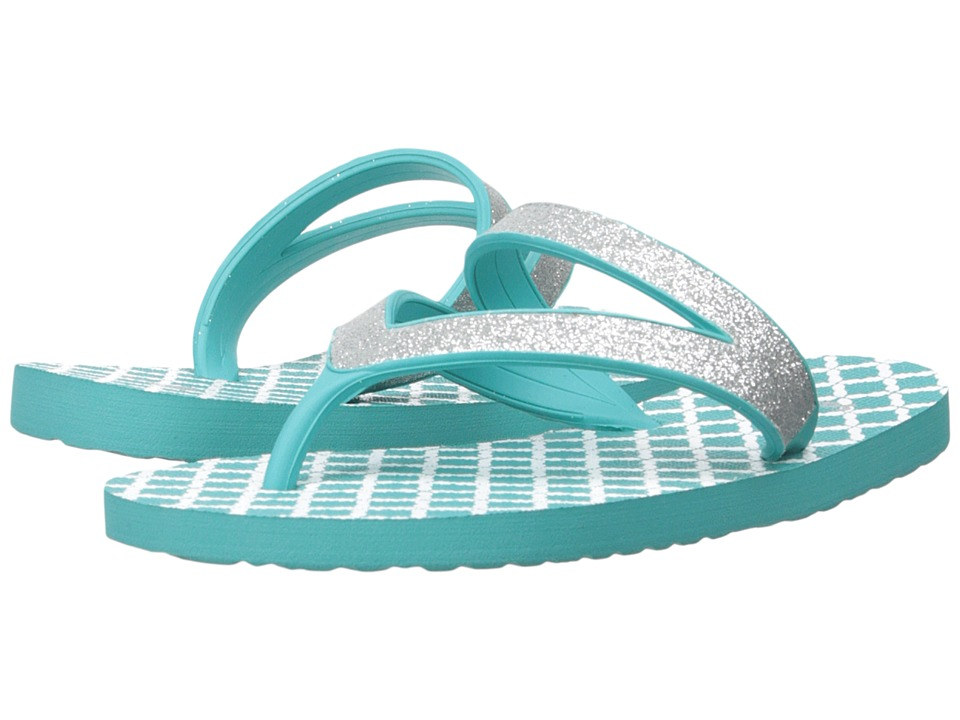 Sanuk Kids - Lil Selene Crystal (Toddler/Little Kid) (Silver/Turquoise) Girls Shoes