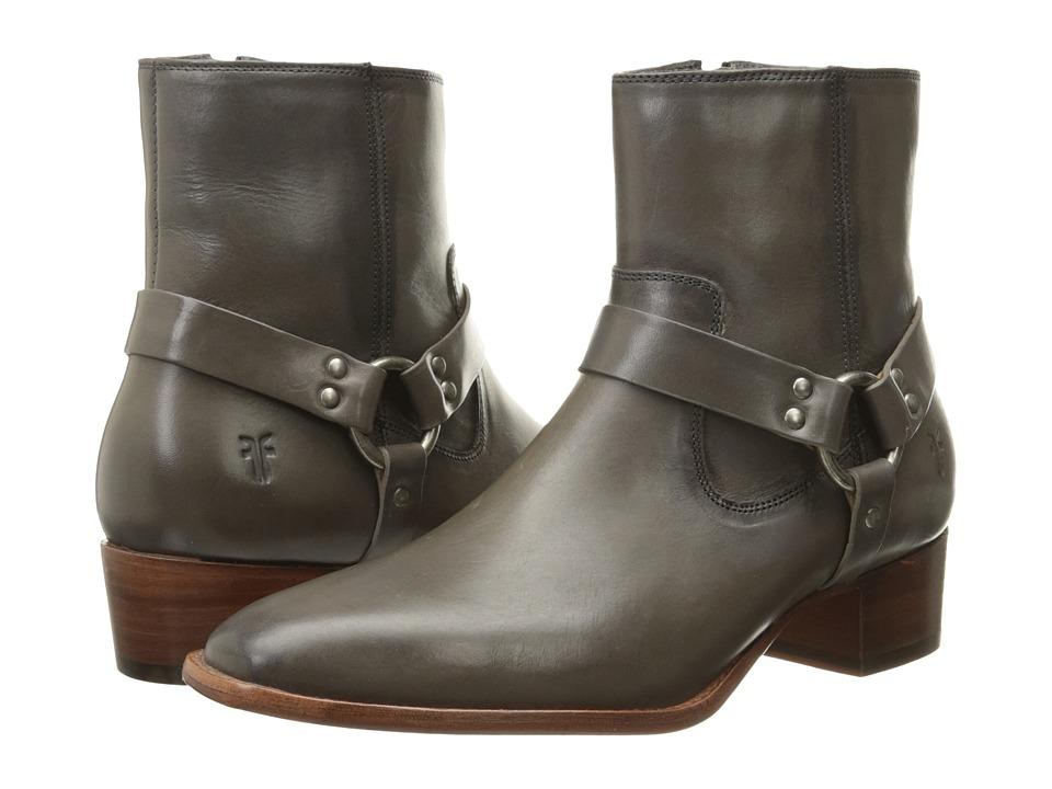 Frye - Dara Harness Short (Charcoal Smooth Polished Veg) Women's Zip Boots