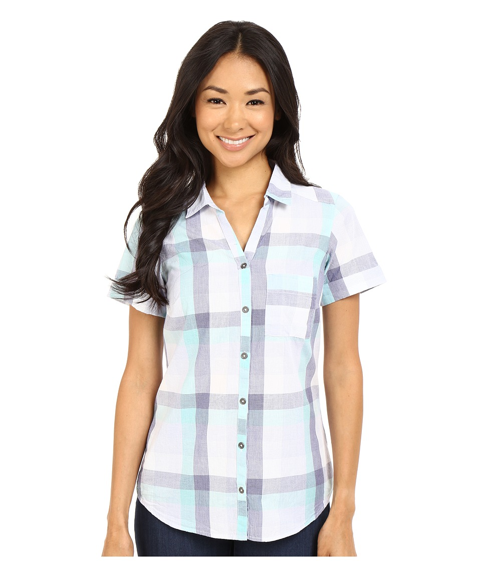 Columbia - Wild Haven Short Sleeve Shirt (Pale Purple Large Plaid) Women's Short Sleeve Pullover