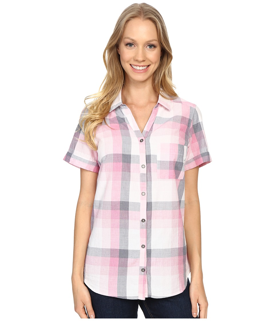 Columbia - Wild Haven Short Sleeve Shirt (Haute Pink Large Plaid) Women's Short Sleeve Pullover