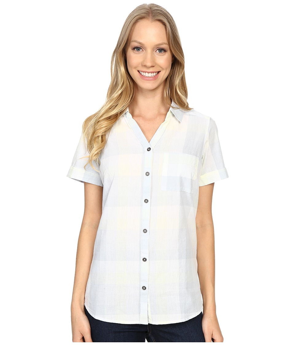 Columbia - Wild Haven Short Sleeve Shirt (Cirrus Grey Large Plaid) Women's Short Sleeve Pullover