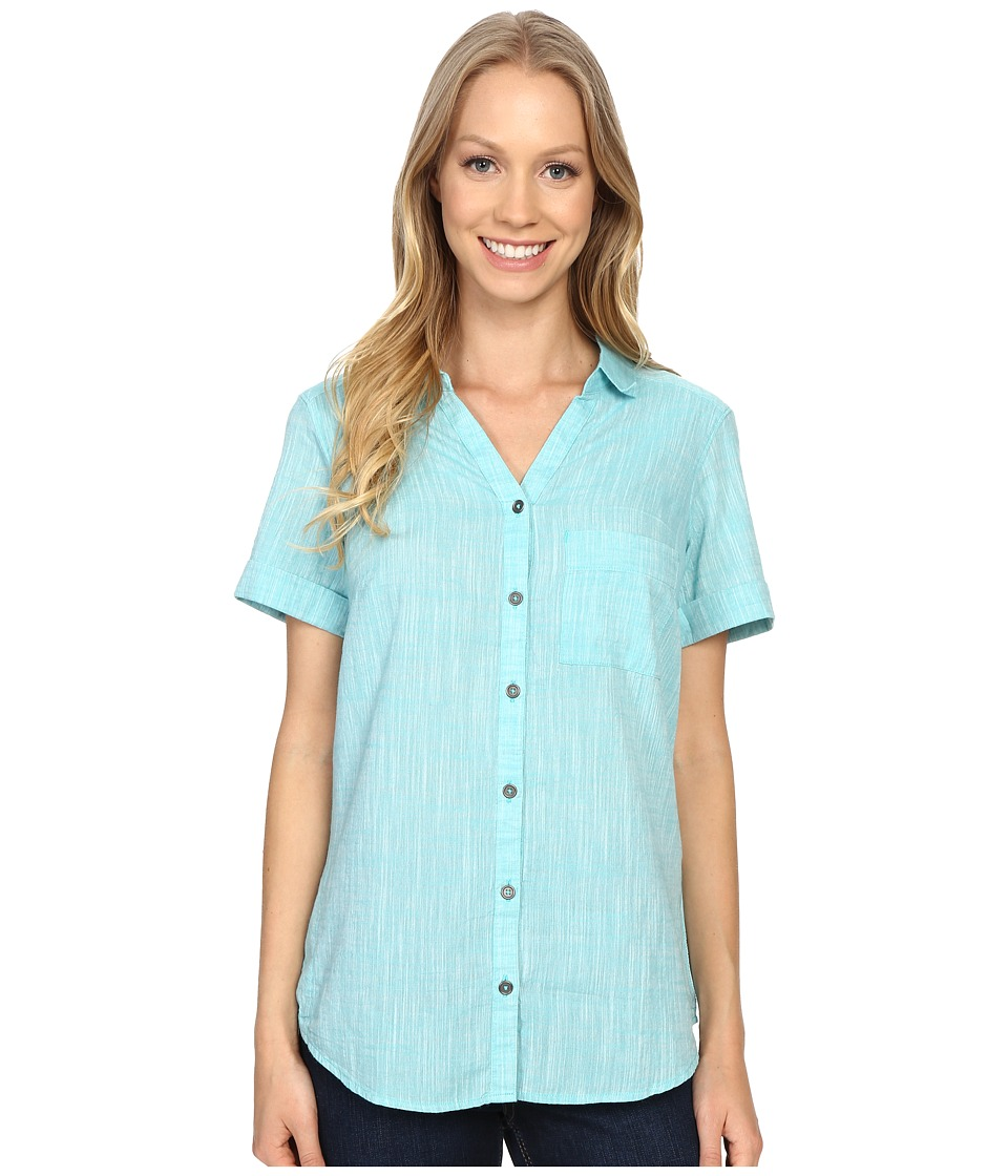 Columbia - Wild Haven Short Sleeve Shirt (Miami Cross Dye) Women's Short Sleeve Pullover