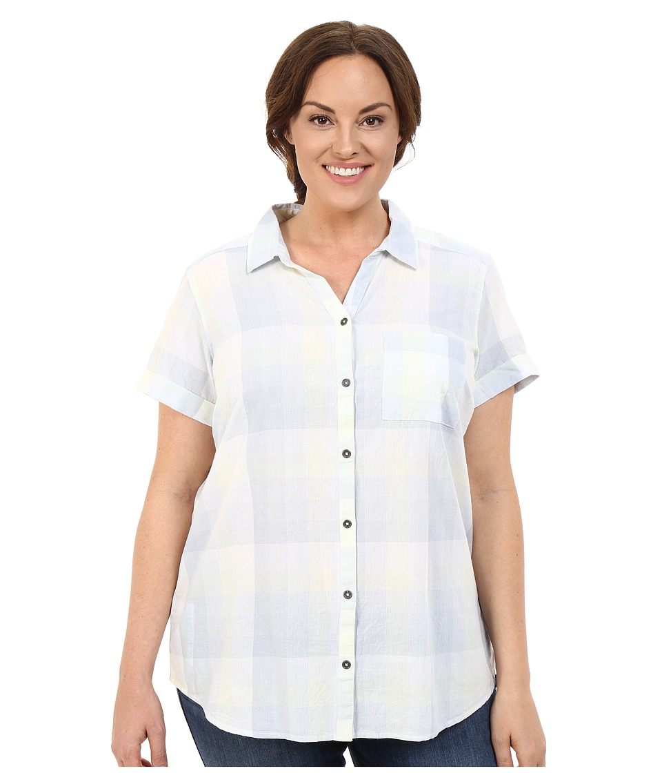Columbia - Plus Size Wild Haven Short Sleeve Shirt (Cirrus Grey Large Plaid) Women's Short Sleeve Button Up