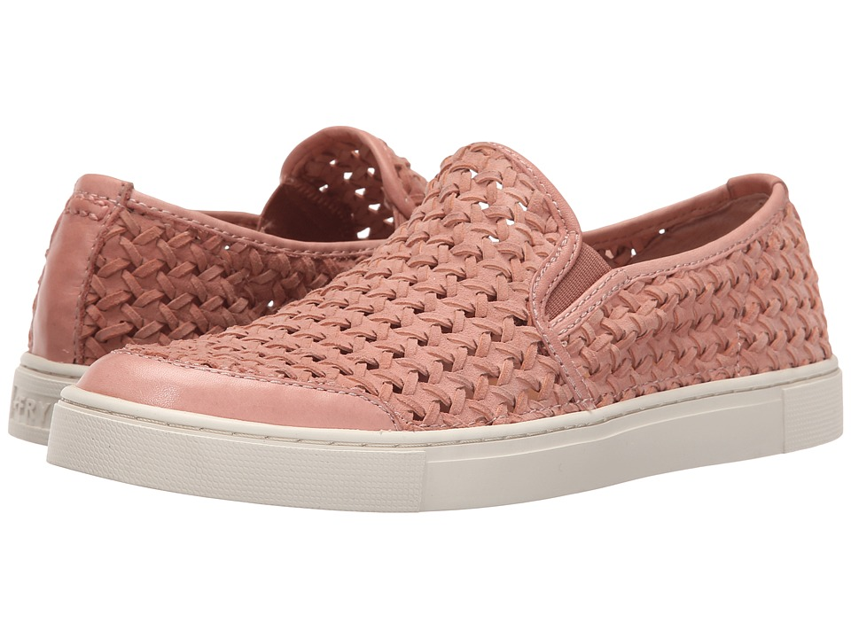 Frye - Gemma Slip Woven (Dusty Rose Woven Suede) Women's Slip on Shoes