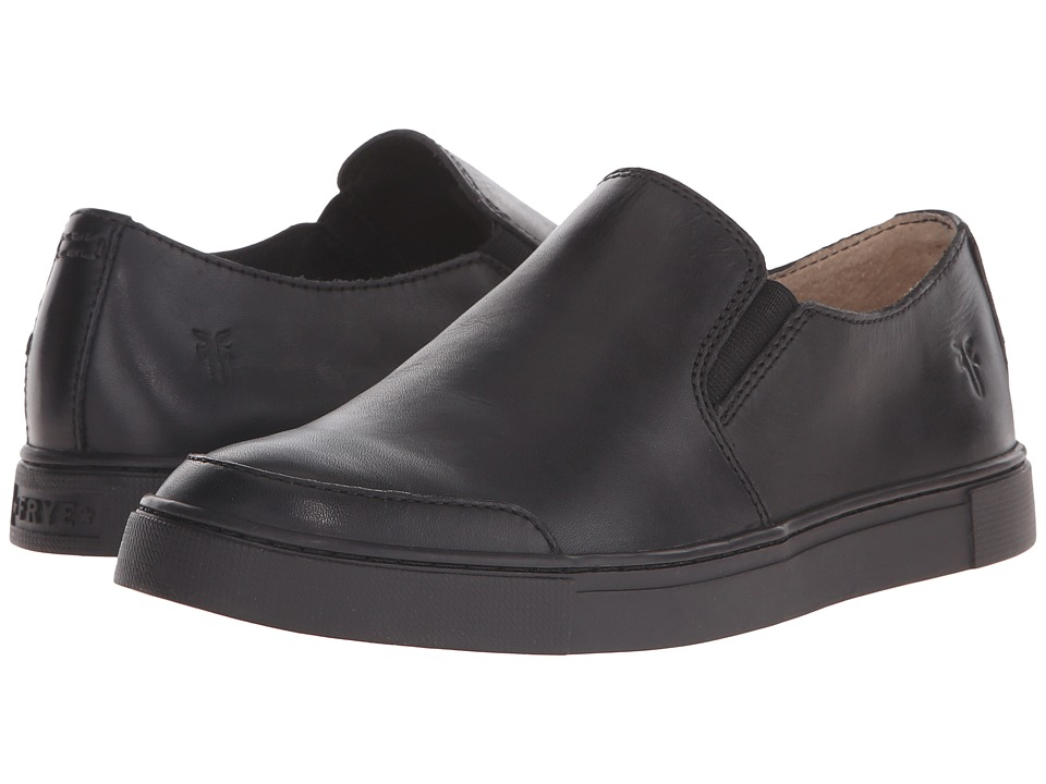 Frye - Gemma Slip (Black Leather) Women's Slip on Shoes