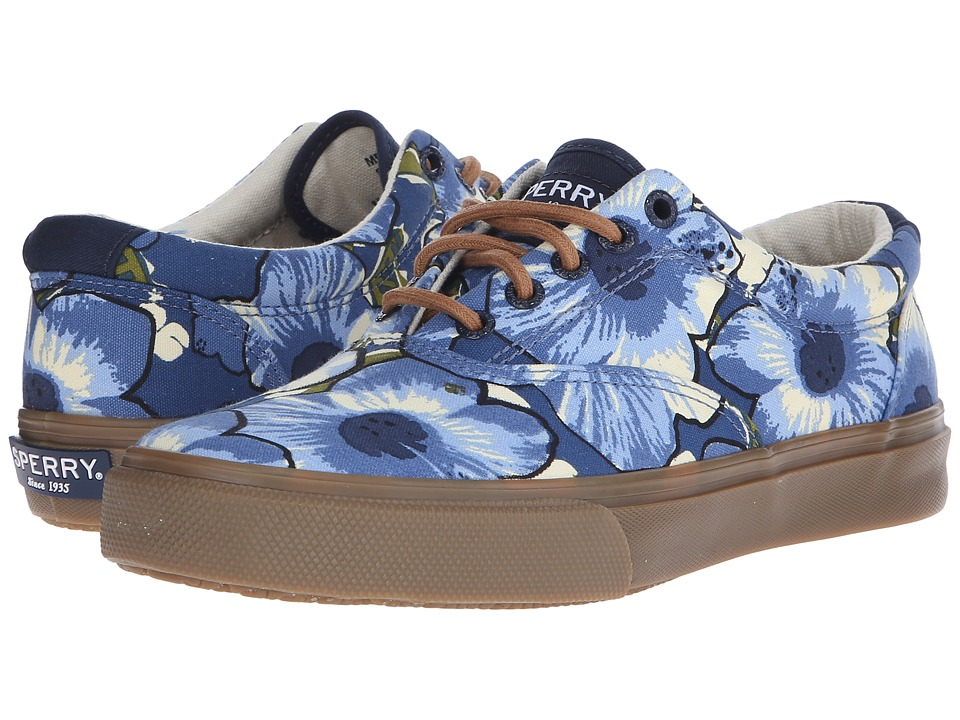 Sperry - Striper LL CVO Hawaiian (Blue Print) Men's Slip on Shoes