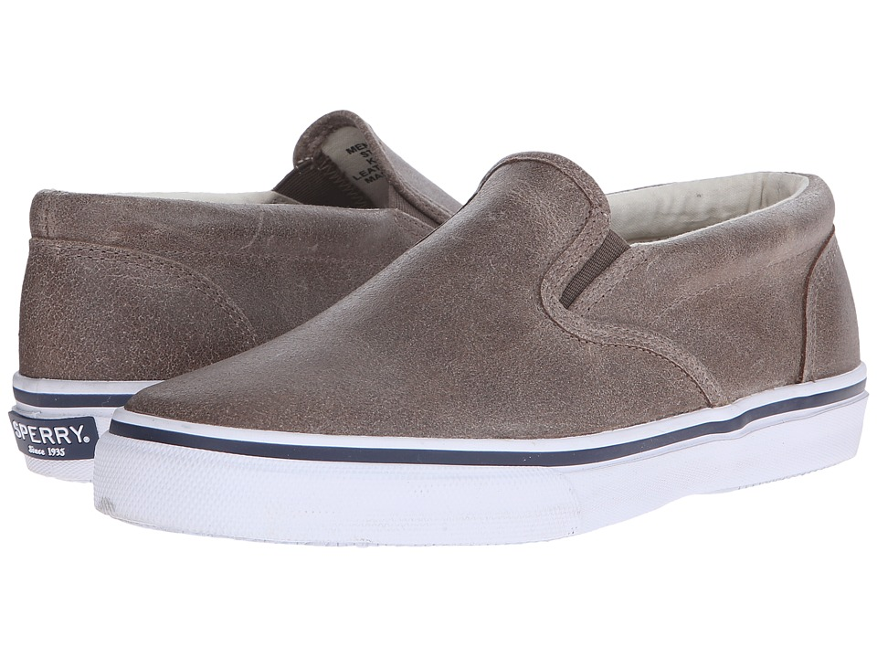 Sperry Top-Sider Striper Slip-On White Cap (Brown) Men