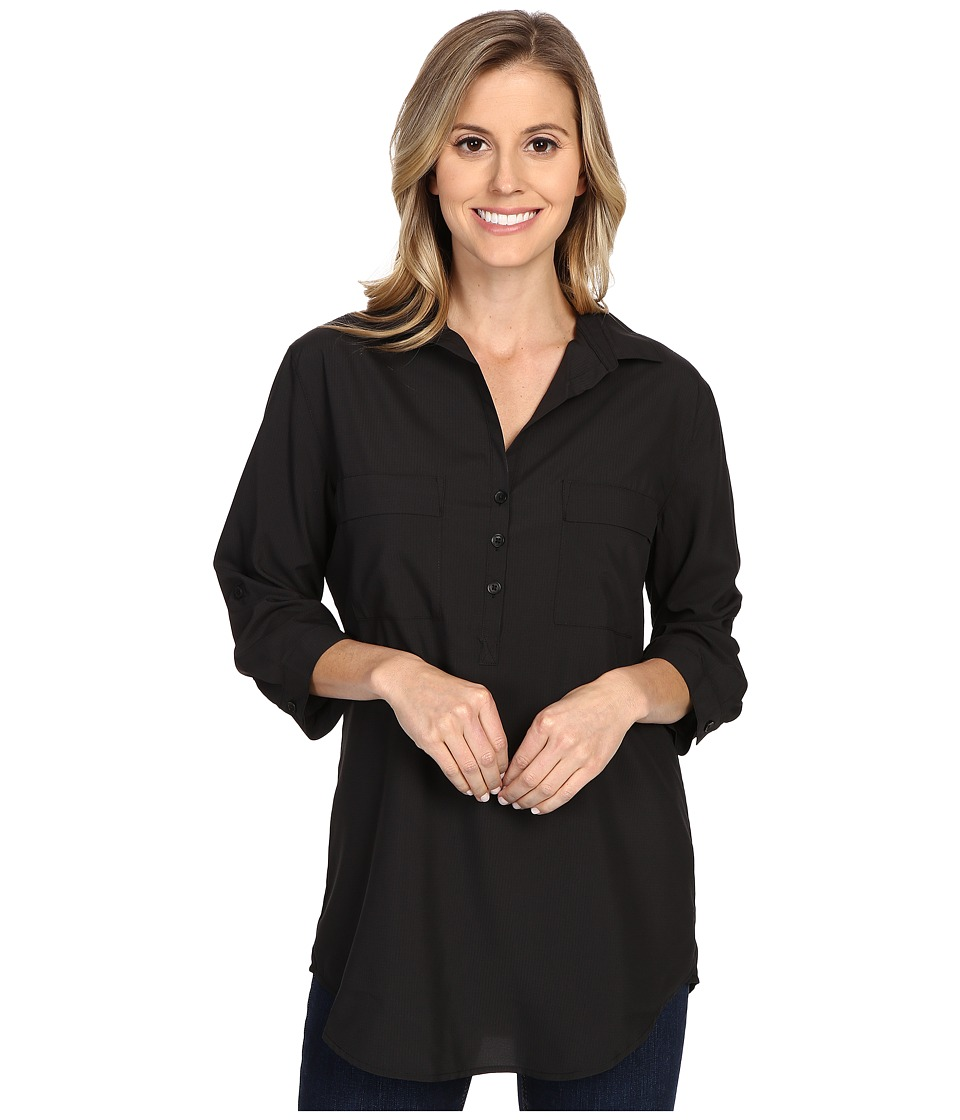 Royal Robbins - Expedition Stretch Tunic (Jet Black) Women's Long Sleeve Button Up