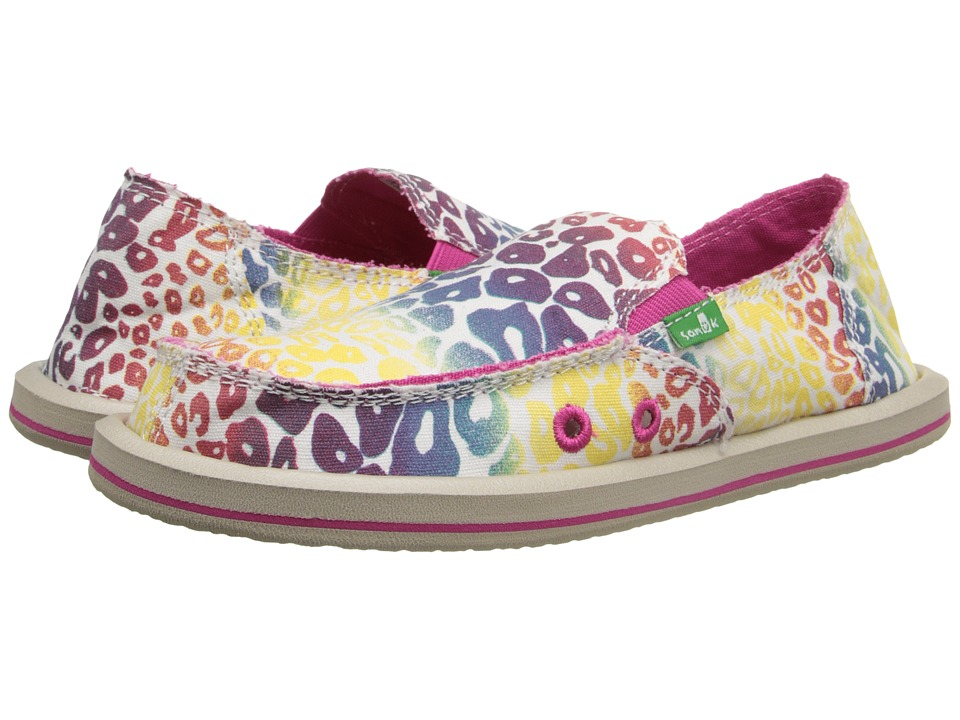 Sanuk Kids - I'm Game (Little Kid/Big Kid) (Natural/Rainbow Cheetah) Girls Shoes