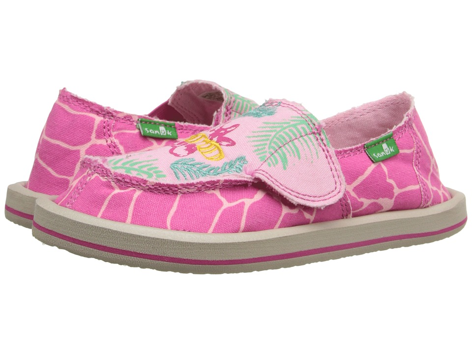 Sanuk Kids - Scribble II (Toddler/Little Kid) (Giraffe Palm) Girls Shoes