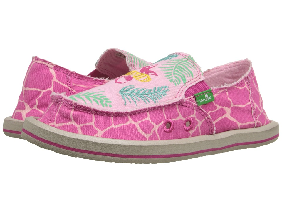 Sanuk Kids - Scribble II (Little Kid/Big Kid) (Giraffe Palm) Girls Shoes