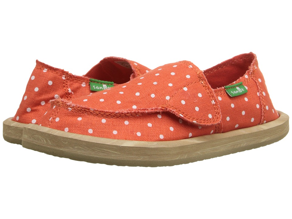 Sanuk Kids - Hot Dotty (Toddler/Little Kid) (Flame/Natural Dots) Girls Shoes