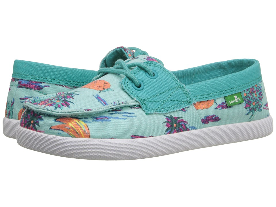 Sanuk Kids - Sailaway Mate (Little Kid/Big Kid) (Turquoise Pineapples) Girls Shoes