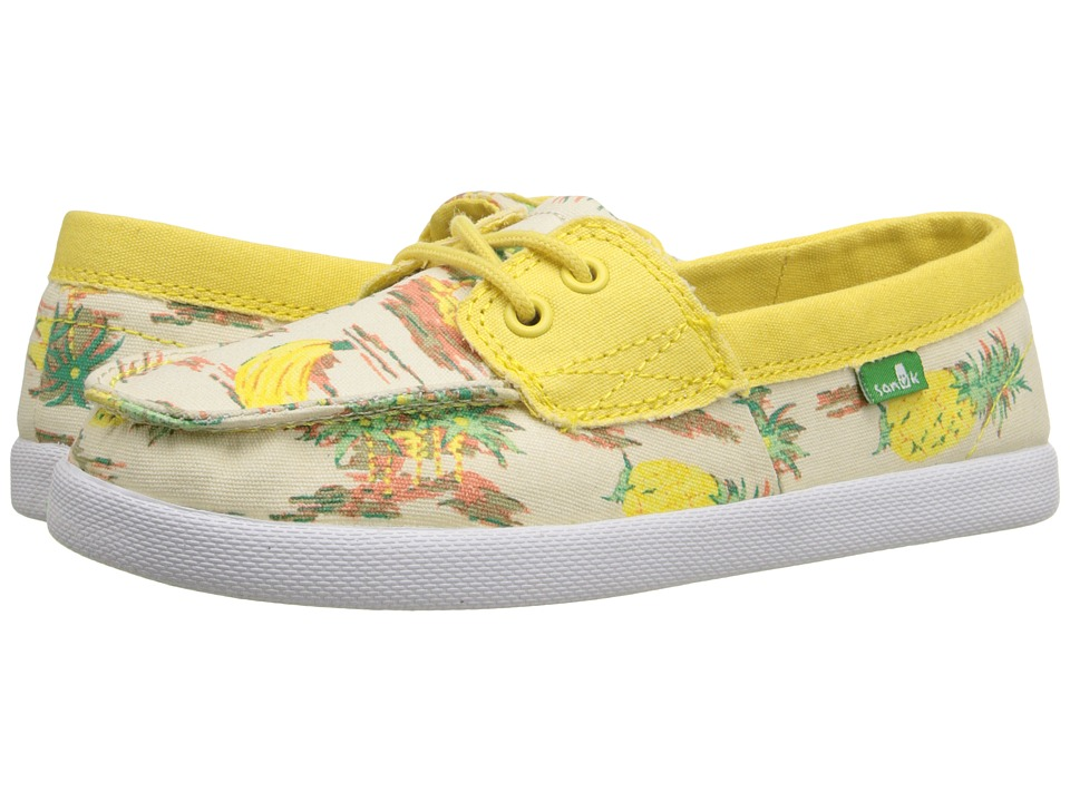 Sanuk Kids - Sailaway Mate (Little Kid/Big Kid) (Yellow Pineapples) Girls Shoes