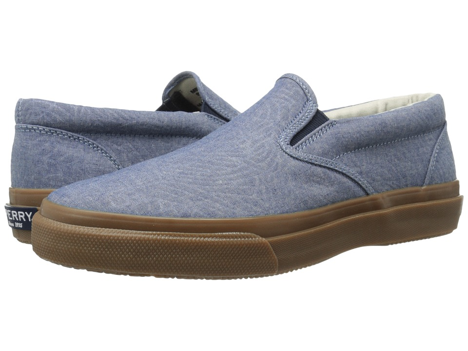 Sperry Top-Sider - Striper Slip-On Chambray (Blue Denim) Men's Slip on Shoes