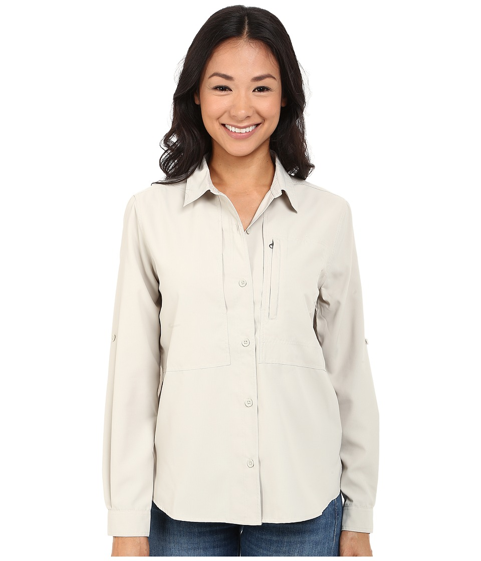 Royal Robbins - Expedition Stretch L/S (Soapstone) Women's Long Sleeve Button Up