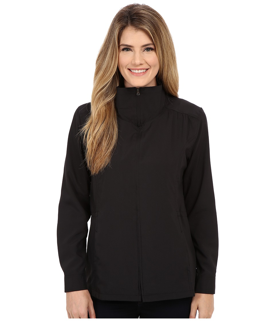 Royal Robbins - Expedition Stretch Sun Cover Top (Jet Black) Women's Coat