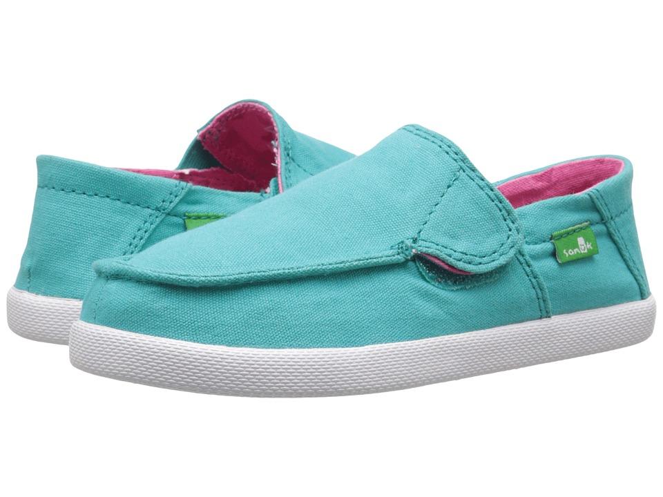 Sanuk Kids Sideskip (Toddler/Little Kid) (Turquoise) Girls Shoes