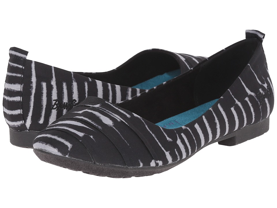 Blowfish - Ruckus (Black Bocca Print Fabric) Women's Flat Shoes