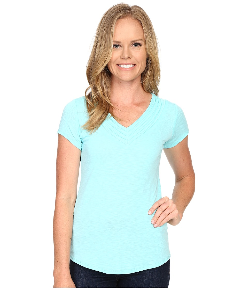 KUHL - Sora Short Sleeve Top (Aquamarine) Women's Short Sleeve Pullover