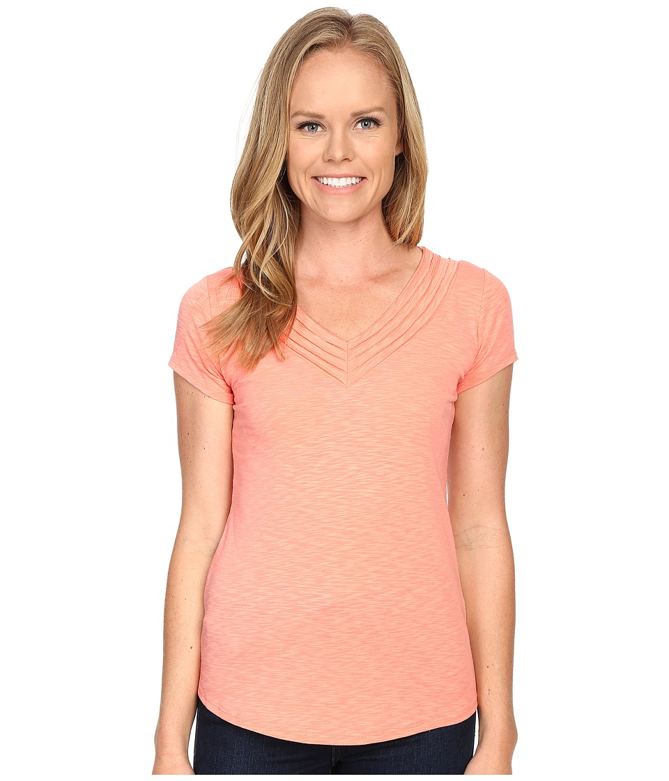KUHL - Sora Short Sleeve Top (Peach) Women's Short Sleeve Pullover
